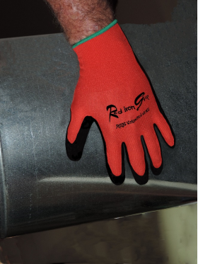 GVRI Red Iron Grip Material Handling Glove Rags Unlimited Inc